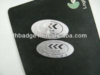 aluminum auto foot pad badge,metal logo ,name plate