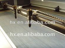 2012 low price Rabbit HX-1690SG fabric laser cutting machine with double head 80W