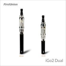 2014 latest products vapor king e-cigarette iGo2 dual 900 puffs&1300 puffs shisha hookah modern