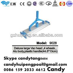 High quality (44.5x13cm)Aluminum alloy Vacuum head with 4 wheels plastic handle