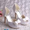 (12 Colors) Lady Platform Dresses Shoes 100% White Satin