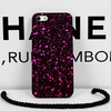 Fancy hard plastic 3d dots night glow painted snowflake cover for iphone4