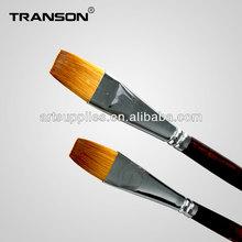 Nylon hair wooden handle flat head 206 synthetic hair brush