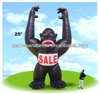 2014 customized advertising balloon, inflatable gorilla F1043