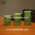 bambu design esculpido perfumada real chama levou vela