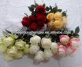 nove artificial cabeça da flor rosa
