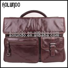 Men's genuine leather Briefcase italian leather bag wholesale