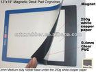 plastic pvc magnetic lift counter mats,magnetic rubber desk pads
