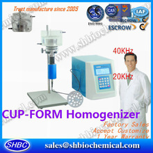 Cup form ultrasonic homogenizer sterile/pathogenic sample processing laboratory homogenizer cell tissue homogenizer