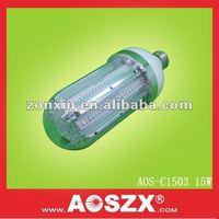 For Solar light using Replace CFL post top light 15w corn bulb aluminium garden led light 12v