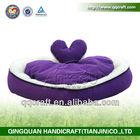Heart shaped pet bed/cat bed/sleeping bag