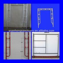 Safe durable frame scaffolding, frame scaffolding system, scaffolding frame