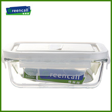 550ml rectangular pyrex glass lunch box made in china