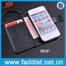 New Designer Wallet Credit Card Slot Case for iphone 4 4s
