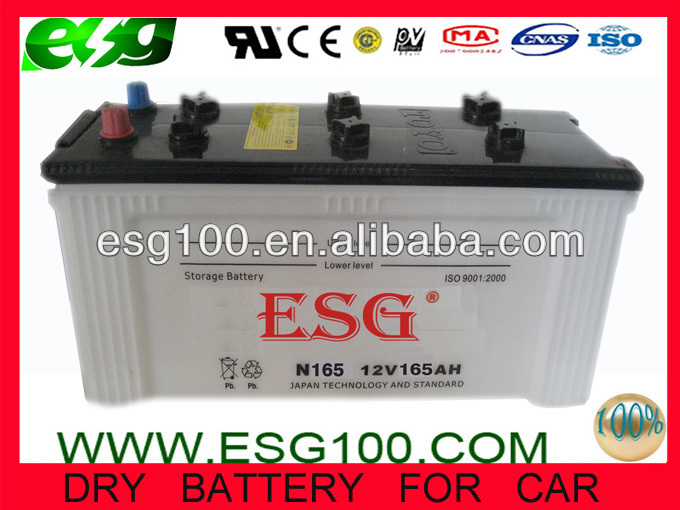 JIS DRY CHARGED LEAD ACID VEHICLE BATTERY N165 165G51(R.L)