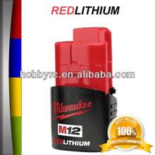 New M1215 Milwaukee 48-11-2401 M12 Red Lithium 12V Lithium-Ion Battery 12V Battery