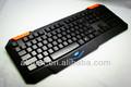 2014 neue produkt led-hintergrundbeleuchtung Gaming laser farbige tastatur