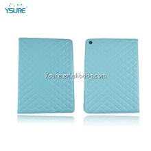 Light Blue Quilted Leather Case for Apple iPad Air with Stand