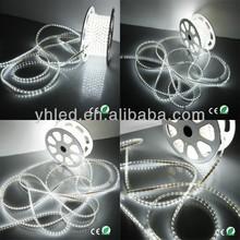 110V 220V High Voltage 60LEDs/Meter brightest thin neon flex strip light 5050 50m/roll rope lighting ideas