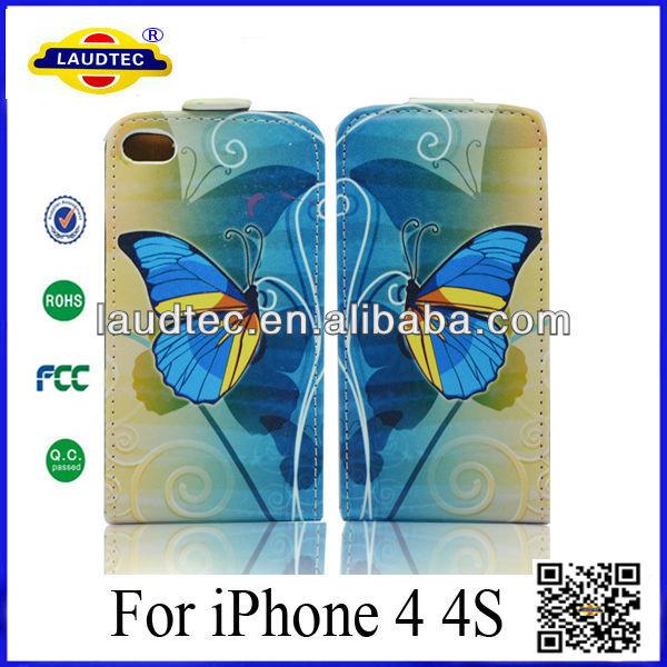 Beautiful PU Case China Factory PU Leather Flip Case PU Cover For iPhone 4/4s