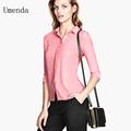 senhoras mais recente moda blusa chiffon rosa 2014