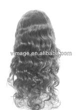 vimage top grade unprocessed virgin gray hair lace wig