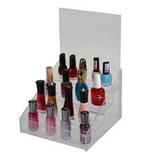 Acrylic rotating nail polish rack display stand