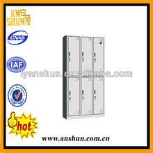 used double tiers 6 door steel almirah, Dressing Locker,steel locker