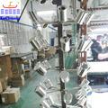 glänzende runde silber parfüm flaschenverschluss