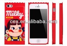 Bandai Fujiya Peko Milky for iphone 5 Decore Wear Case Milky Girl Unopened 1p