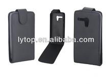 Black Flip PU Leather Case For Moto G