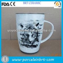 custom white big ceramic mug for giftware