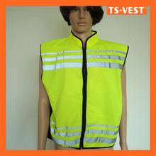 Collar zipper reflector safety vest China online shopping