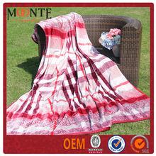 Colorful Stripe Printed sleeping blanket for adult