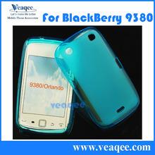 blue color back cover case for blackberry curve 9380