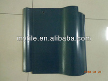 280x280MM S Style Clay Roof Tiles Green Color with Glossy Surface