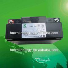 12v lifepo4 lithium ev battery/electric vehicle battery 48v 20ah