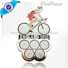 Bike Match Sport England 2012 Silver Lapel pins