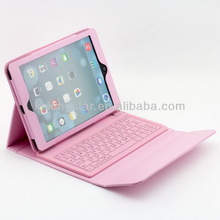 For iPad mini leather cover bluetooth keyboard