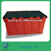 Eco-friendly Plastic Attached Lids Moving Crates