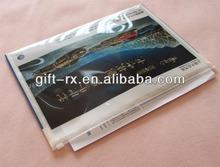 plastic document bag with zipper
