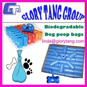 2014 hotsale compostable dog poop bag on roll, different colors, dog waste bag, dog poop bags custom printed, oem biodegradable