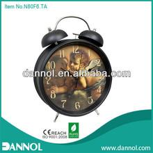 8inch Quartz Metal Table retro double bell alarm islamic clock