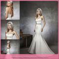 dl918 sexy frisada sereia estilo prata cetim vestidos de noiva frança