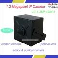 Megapíxeles 1.3m lente del agujero de alfiler ip de la cámara oculta