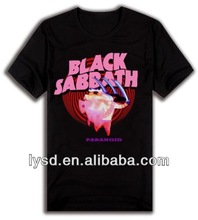 OEM DIY Customized cotton printing T shirt black sabbath Pattern Alphabet shirt Wholesale Men Women shirts