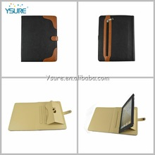 standing and 360 rotating detachable leather wallet case for apple ipad air, ipad 5