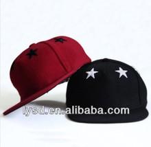 Contrast Embroidery Custom Baseball Hats Flat Brim Sport Hats Men Women Caps