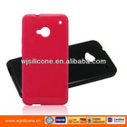 High quality TPU case for HTC one m7 factory custom case for HTC