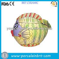 Eco-Friendly hot sale moistureproof ceramic fish cookie jar